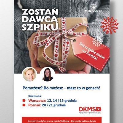 6 Szpilek - MEDICOVER - plakat DKMS - projekt graficzny